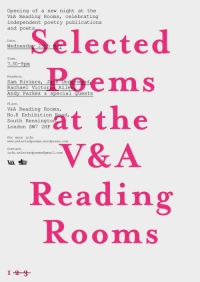 Selected Poems at the V&A Reading Rooms