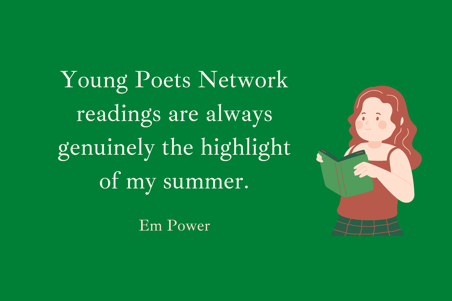 YPN readings are always genuinely the highlight of my summer. Em Power