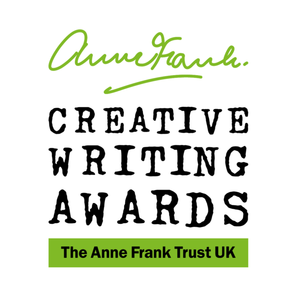 The Anne Frank Creative Writing Awards Logo – Anne Frank's signature in green. Below reads Creative Writing Awards. Below reads The Anne Frank Trust UK .
