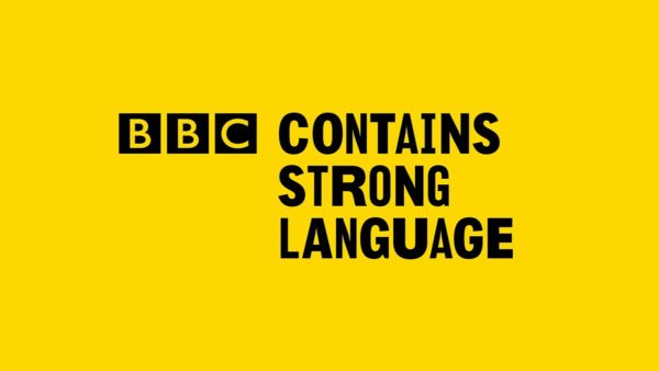 BBC Contains Strong Language logo (black text on yellow background)