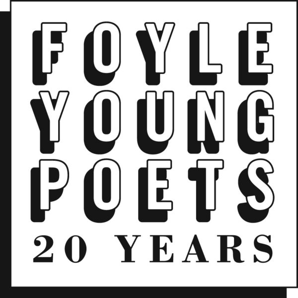 Foyle Young Poets of the Year Award 20th anniversary logo: black and white text on a square background