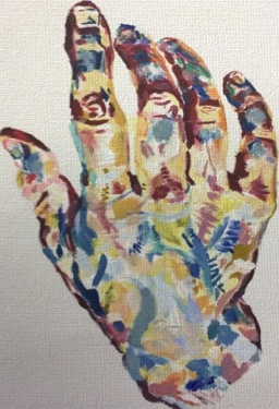 Multicoloured hand