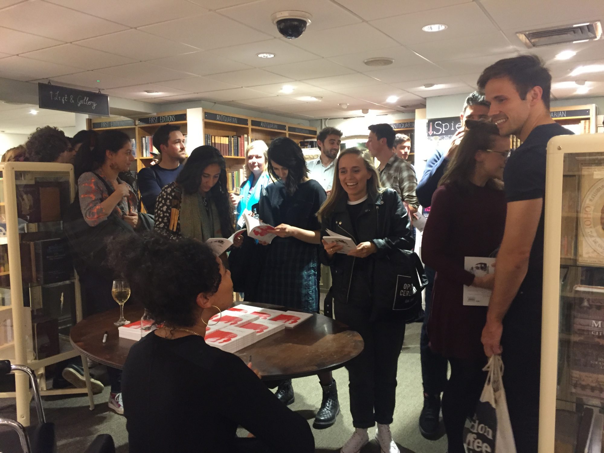 Deanna Rodger signs her new poetry collection I Did It Too