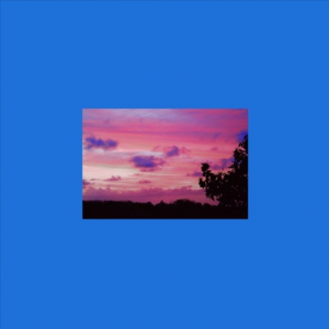 Image for Honey and Emmeline's single: blue square with image of sunset in the centre