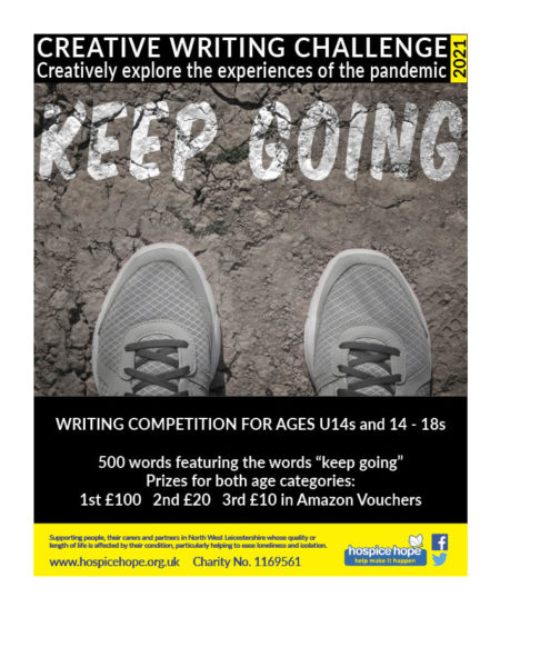 """Introducing a writing competition for young people under 18s to explore experiences of the pandemic in under 500 words and using the phrase """"keep going""""."""