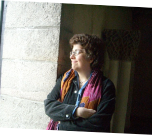 Lola Koundakjian at The Cloisters Museum, NYC. Photo by Farida Soumar