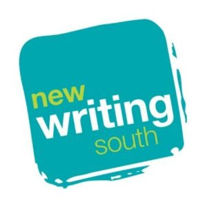 New Writing South logo: yellow and white text on a teal square