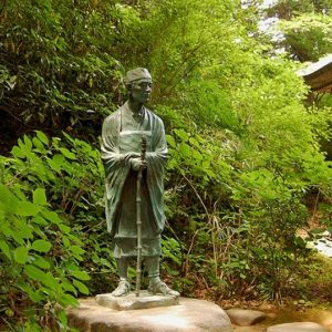 Statue-of-Matsuo-Basho-by-Wind-River