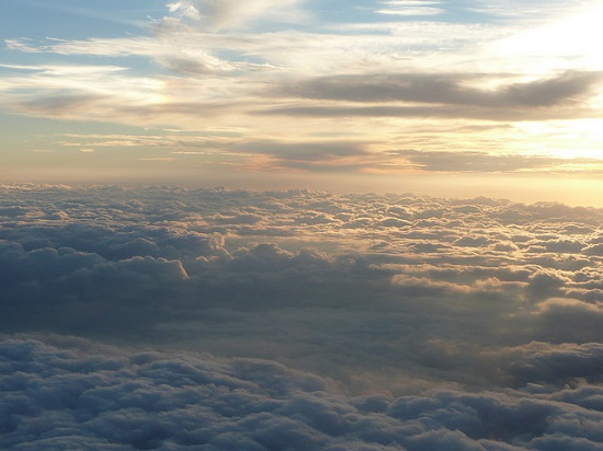 Sunset from Plane by Humberto Moreno