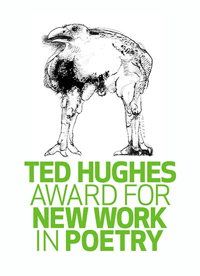 ted hughes award for new work in poetry logo with a crow atop