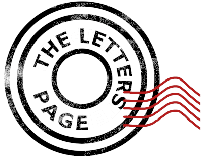 The letters page logo: looks like a postmarked stamp