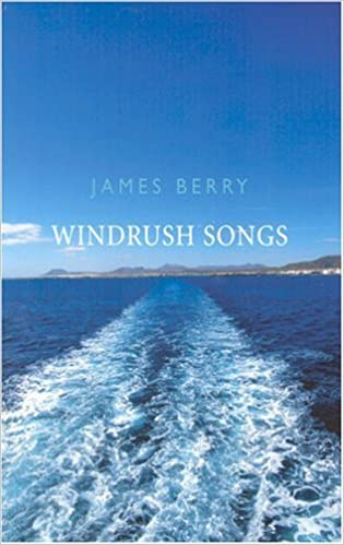 Cover of Windrush Songs: a photo of the sea with a ship's wake