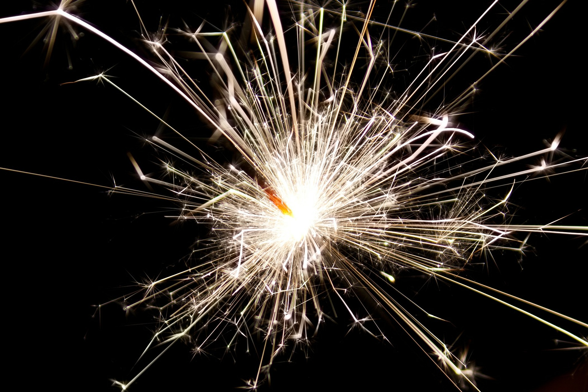 Close-up on a sparkler