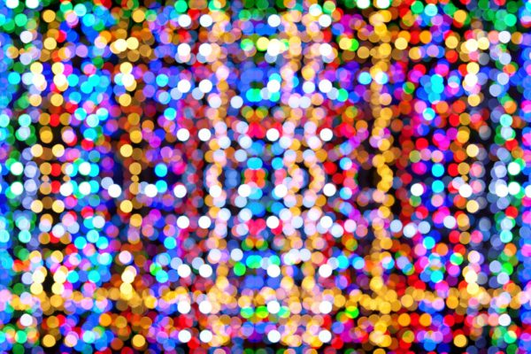 Abstract image of multi-coloured dots