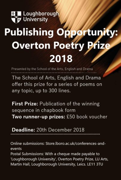 Overton Prize flyer
