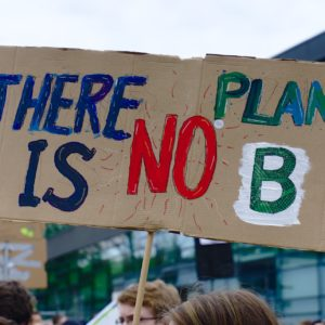 Sign saying 'There is no Planet B'