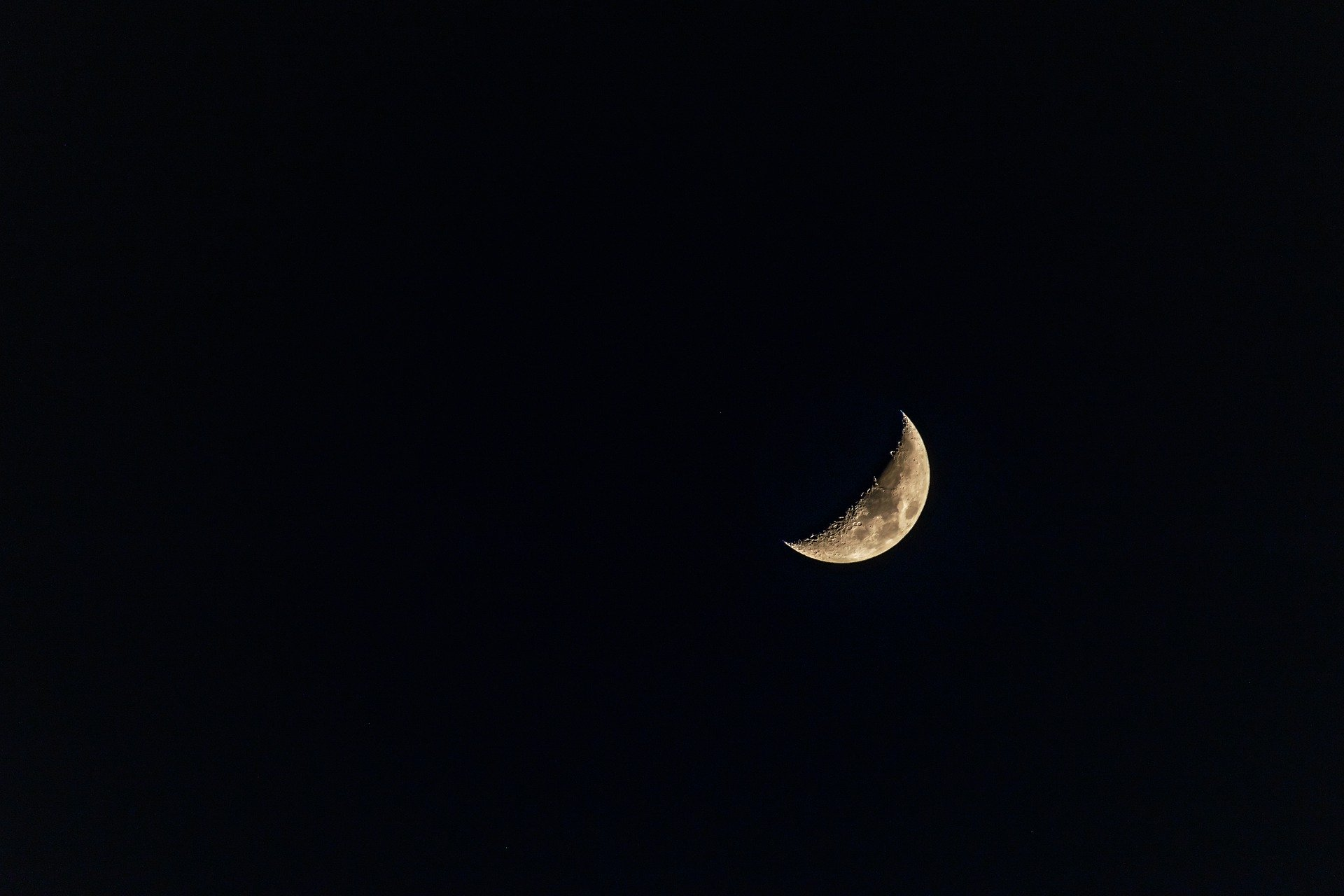 Photo of a half moon in the night sky