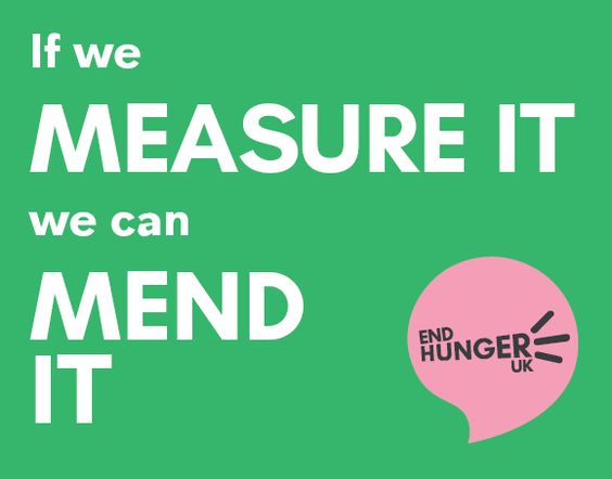 """If we can measure it we can mend it."" -End Hunger UK"