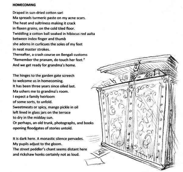 Illustration of a chest of treasures.