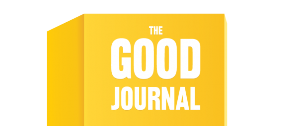 Good Journal logo (text on yellow background)