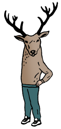 illustration of moose boy