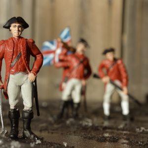 Photo of figurines of American Civial War era British soldiers in uniform