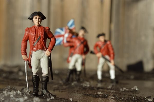 Photo of figurines of American Civial War era British soldiers in uniform