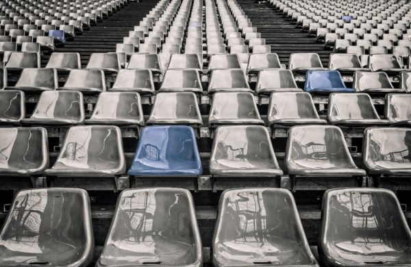 Image of seats in a football stadium